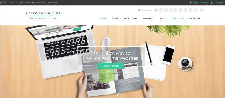 rocco flat wordpress theme 788x343