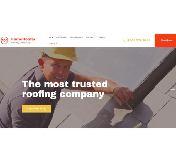roofing company construction wordpress theme