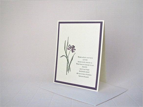 rossetti iris condolence sympathy card