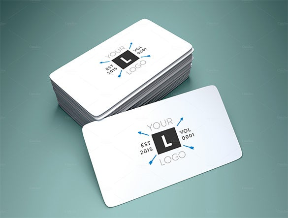 Visiting Card Template Free Sample Example Format Download - Rounded corner business card template