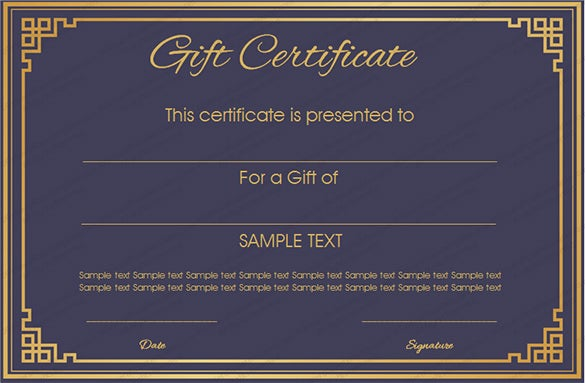 Gift Card Template - 14+ Free Sample Example Format ...