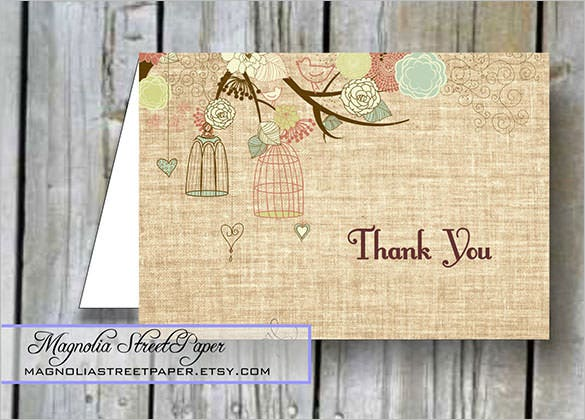 rustic baby shower thank youcard