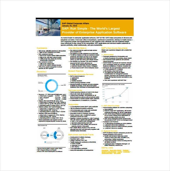 sap corporate fact sheet in pdf