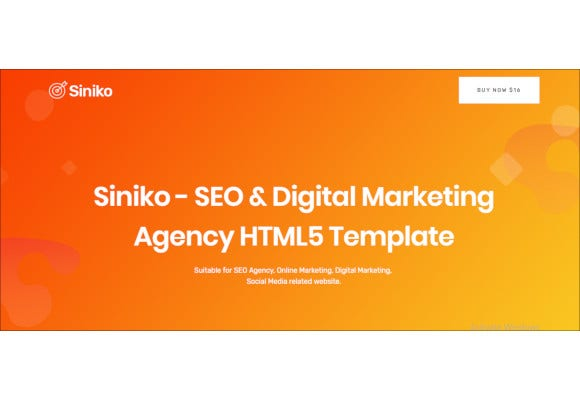 seo digital marketing agency html5 template