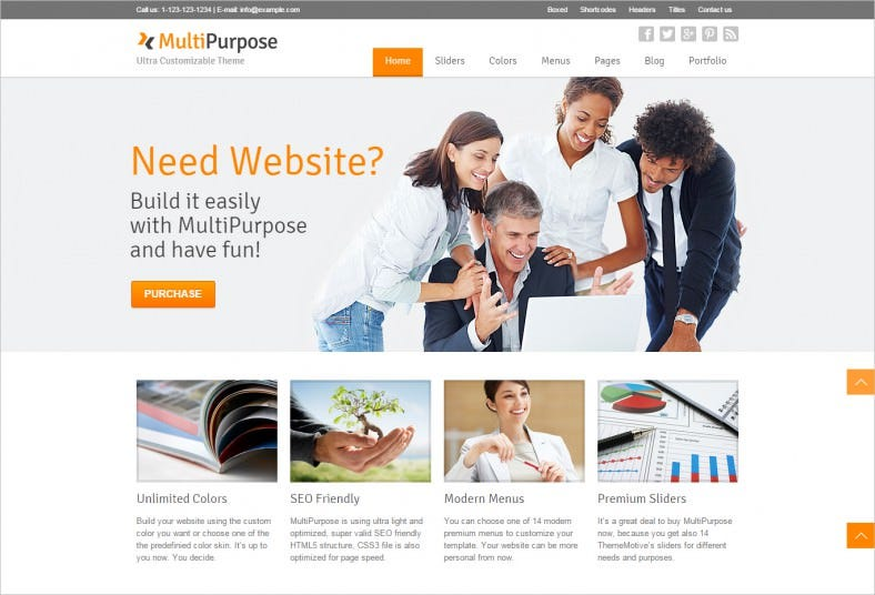 SEO Friendly Responsive Multi Purpose WordPress Theme