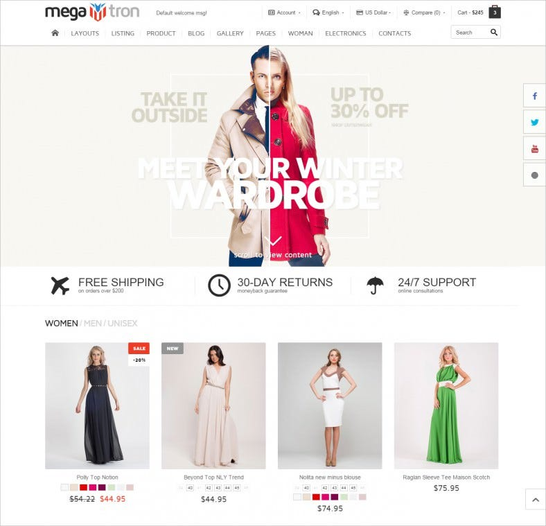 SEO Optimized Responsive HTML Shopping Theme