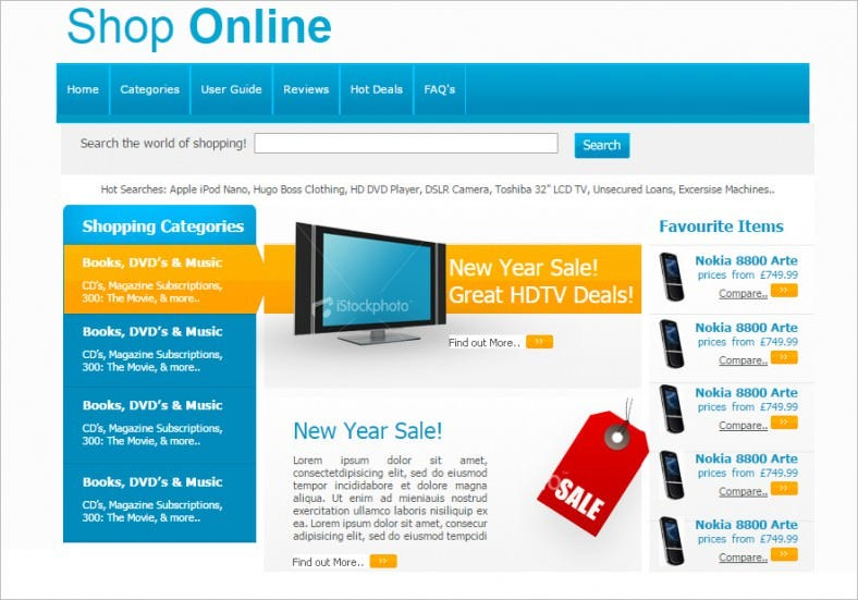 shop online free css template 788x551
