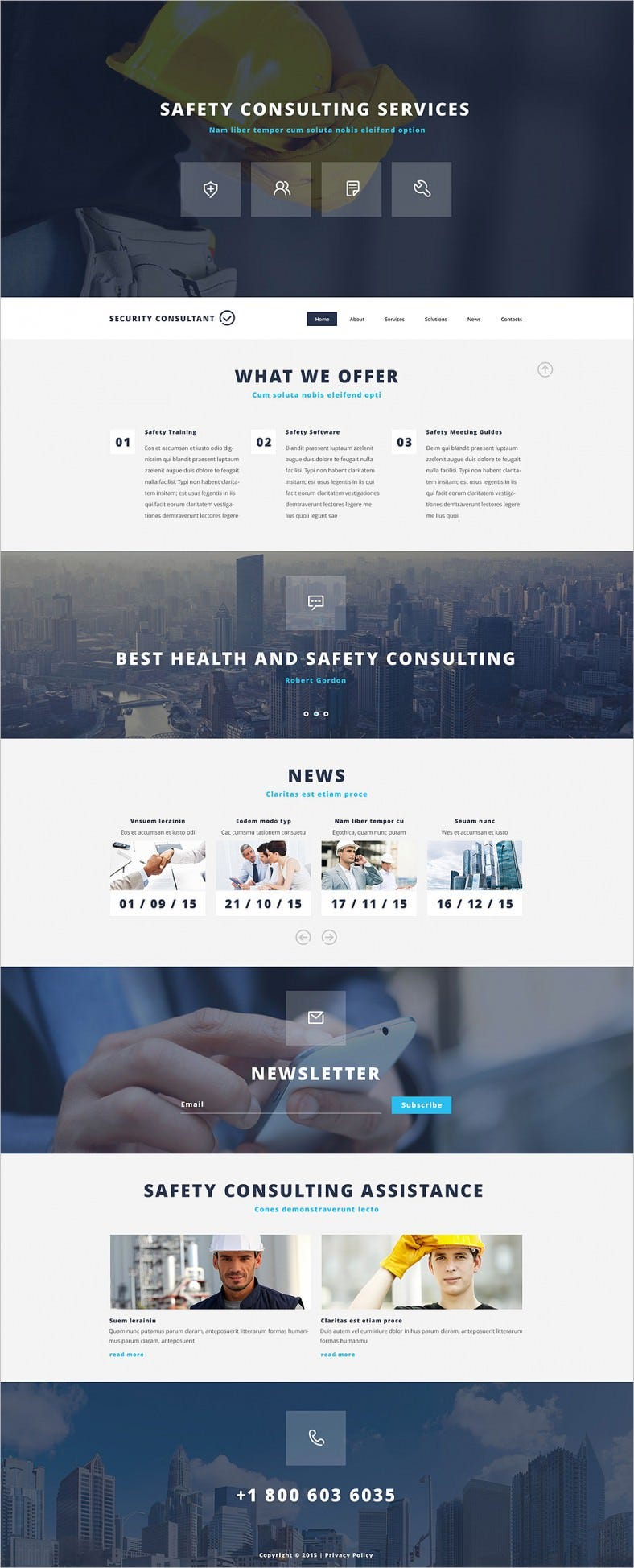 14 best security services website templates free for Consulting website
