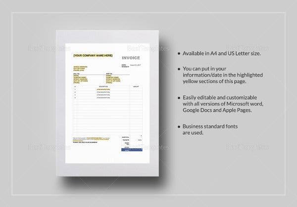 Invoice Template With Value Added Tax 15 Free Word Excel