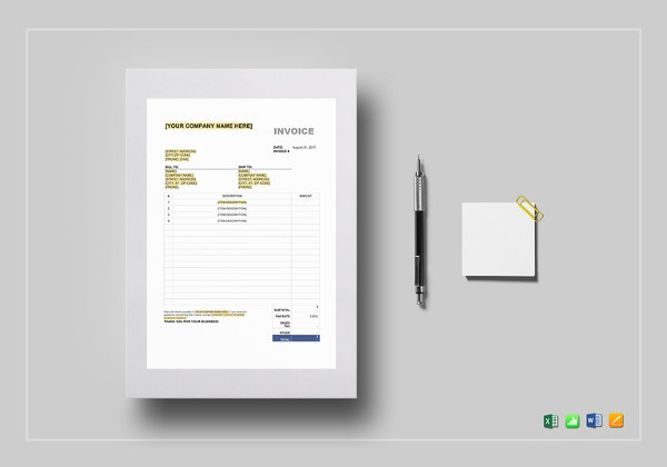 Sales Tax Invoice Template  Tax Invoice Template Excel