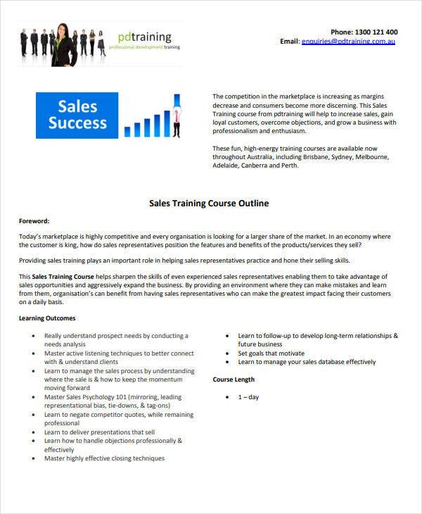 sales-training-program-outline-template