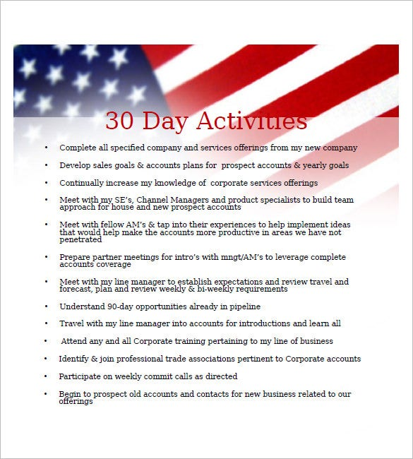 30 day business plan template