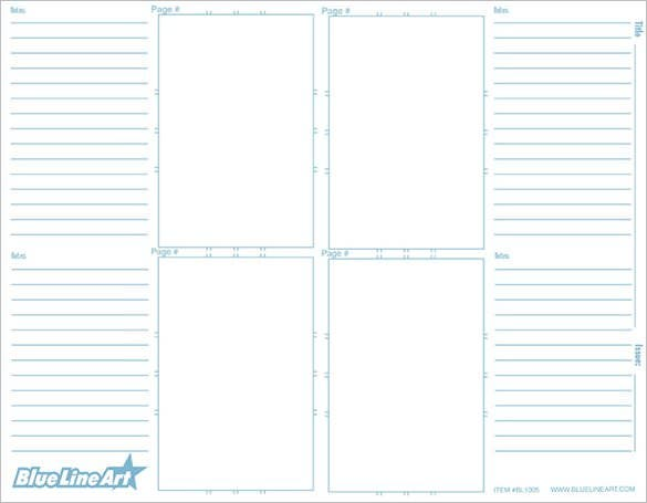 sample blank comic storyboard layout page