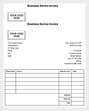 sample business invoice receipt free