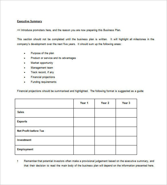 sample business plan template1