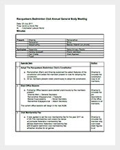 Sample-Club-Meeting-Minutes-Template