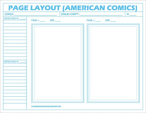 sample comic layout page american storyboard