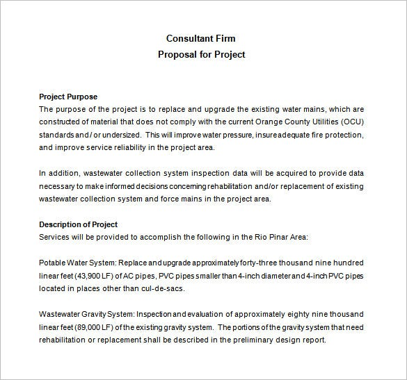 consulting proposal template 16 free sample example format
