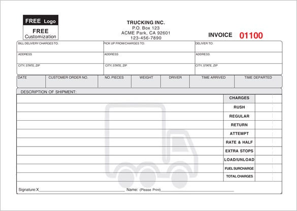 Elegant Sample Courier Delivery Receipt Download Within Courier Invoice Template