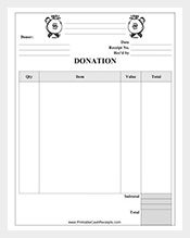 sample donation receipt template free