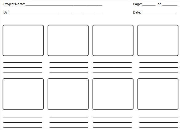 sample editable education storyboard template microsoft word