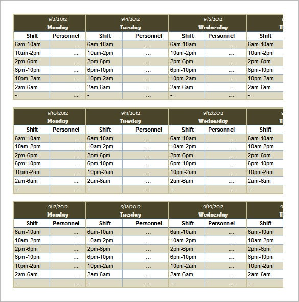 Schedule Template - 39+ Free Word, Excel, PDF Format Download | Free ...