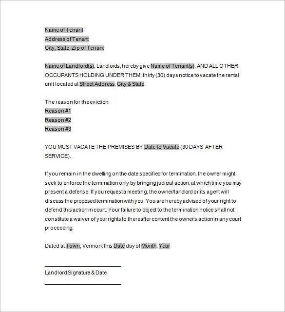Eviction template 12 free word excel pdf format download sample eviction notice letter template spiritdancerdesigns Choice Image
