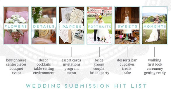 sample features of wedding storyboard template