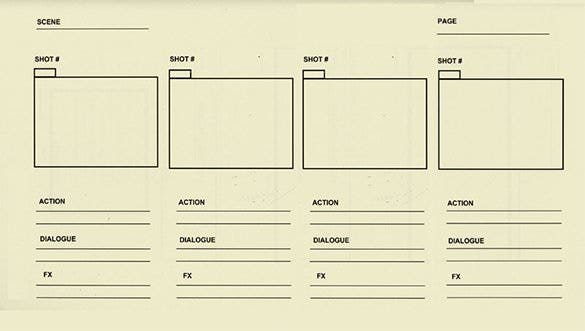 sample free animation storyboard template download