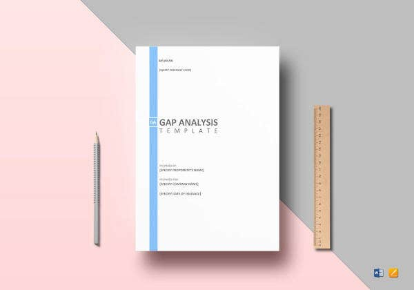 sample gap analysis template