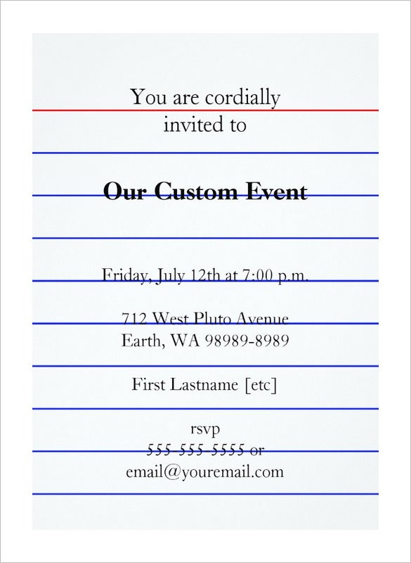 Index card template 11 free sample example format download this design is perfect to create an invitation card the template design can contain information of the name of the event for which the invitation is stopboris
