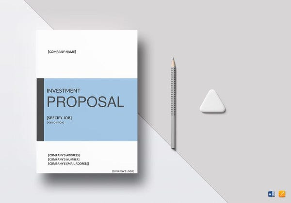 sample investment proposal template in word