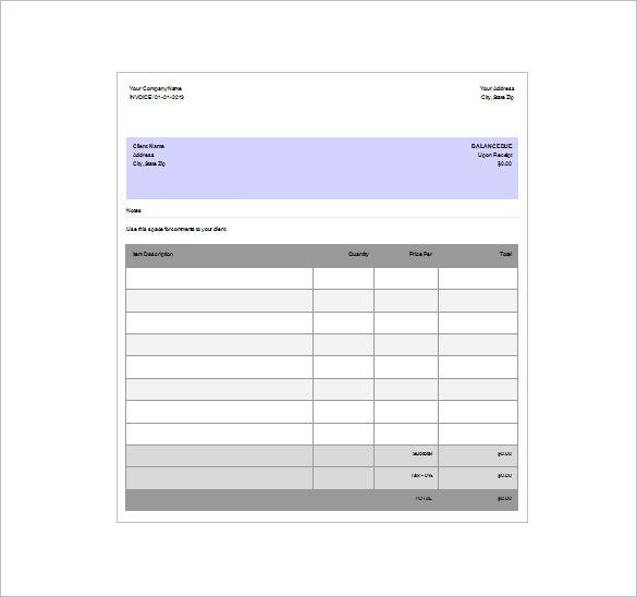 Exceptional Sample Invoice Receipt Download And Invoice Receipt Sample