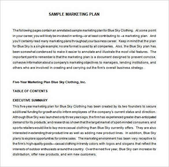 Marketing Proposal Template   Free Sample Example Format