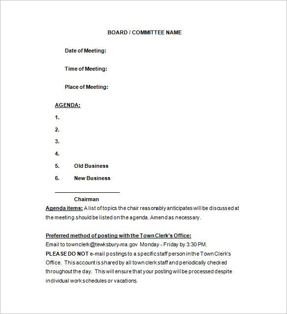 sample meeting notice word download