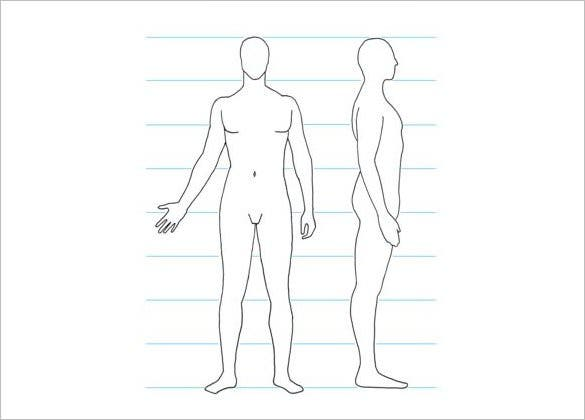 Sample Men Side Body Outline Template Download