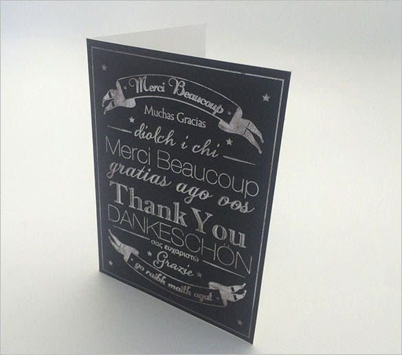 sample multi language design thank youcard