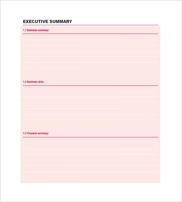 sample new business plan template