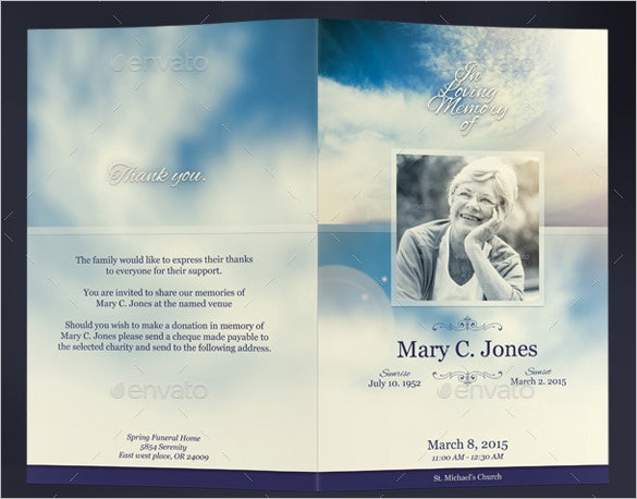 Obituary Template - 40+ Free Word, Excel, Pdf, Psd Format | Free