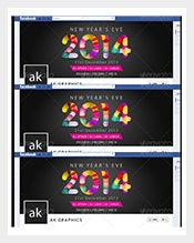 Sample PSD Happy New Year 2014 Facebook Timeline Cover