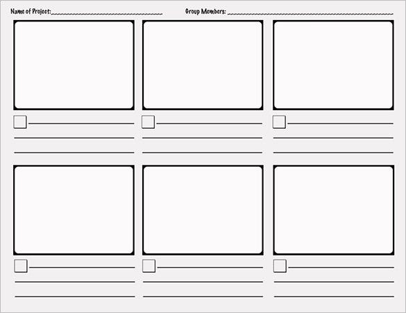 sample printable comic storyboard template word template