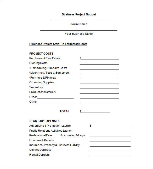 Sample Budget Form Budget Proposal Format Sample