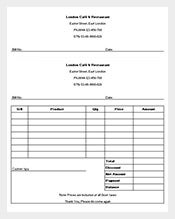 sample restaurant receipt template