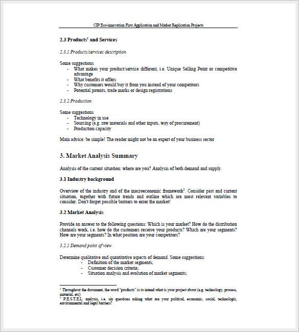 Sales Business Plan Template  Free Sample Example Format