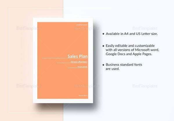sample sales plan template download
