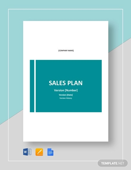 sample sales plan template