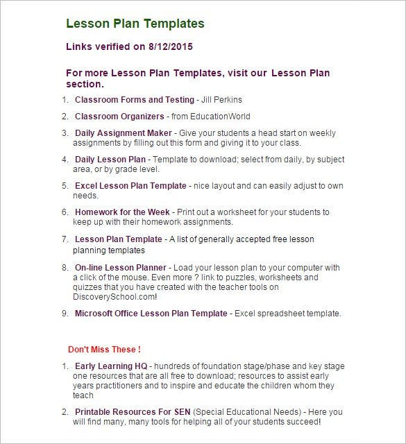 9 lesson plan outline templates doc pdf free premium templates