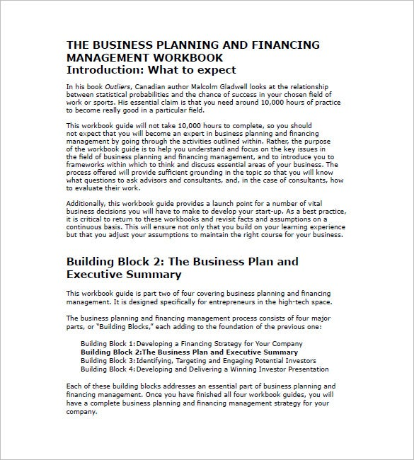 sample the business plan executive summary free download