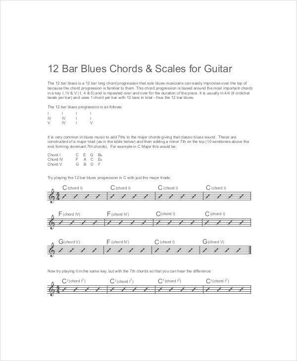 6+ Guitar Bar Chords Charts - Free Sample, Example, Format | Free ...