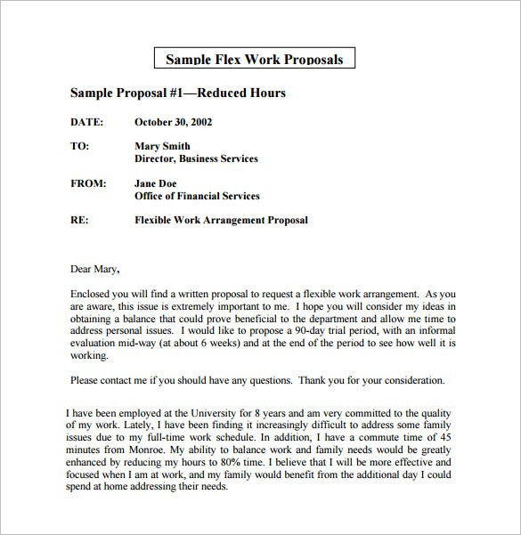 Work Proposal Template   Free Sample Example Format Download